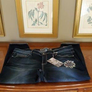 Hydraulic Nolita Mid Rise Curvy Ankle Skinny Jeans